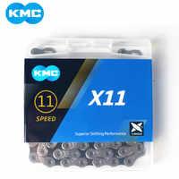 KMC x11,93 X11 cadena de bicicleta 118L 11 cadena para bicicleta de velocidades con caja Original y botón mágico para piezas de bicicleta de montaña/varilla