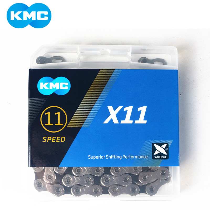 Kmc x11.93 x11 corrente de bicicleta 118l 11 velocidade corrente com caixa original e botão mágico para mountain/rod bicicleta peças