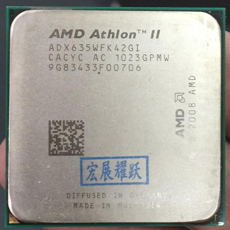 AMD Athlon II X4 635  X635 Quad-Core AM3 938 CPU 100% Working Properly Desktop Processor