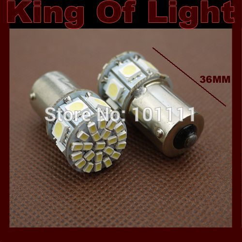 10x High quality led Car styling lighting s25 p21w ba15s 1156 22 LED SMD 3020 + 7 led SMD 5050 Turn lignt Free shipping