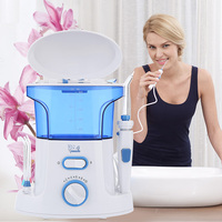 Gustala 600ml Dental Flosser Oral Irrigator Portable Water Oral Floss Dental Irrigator Floss Dental Teeth Care