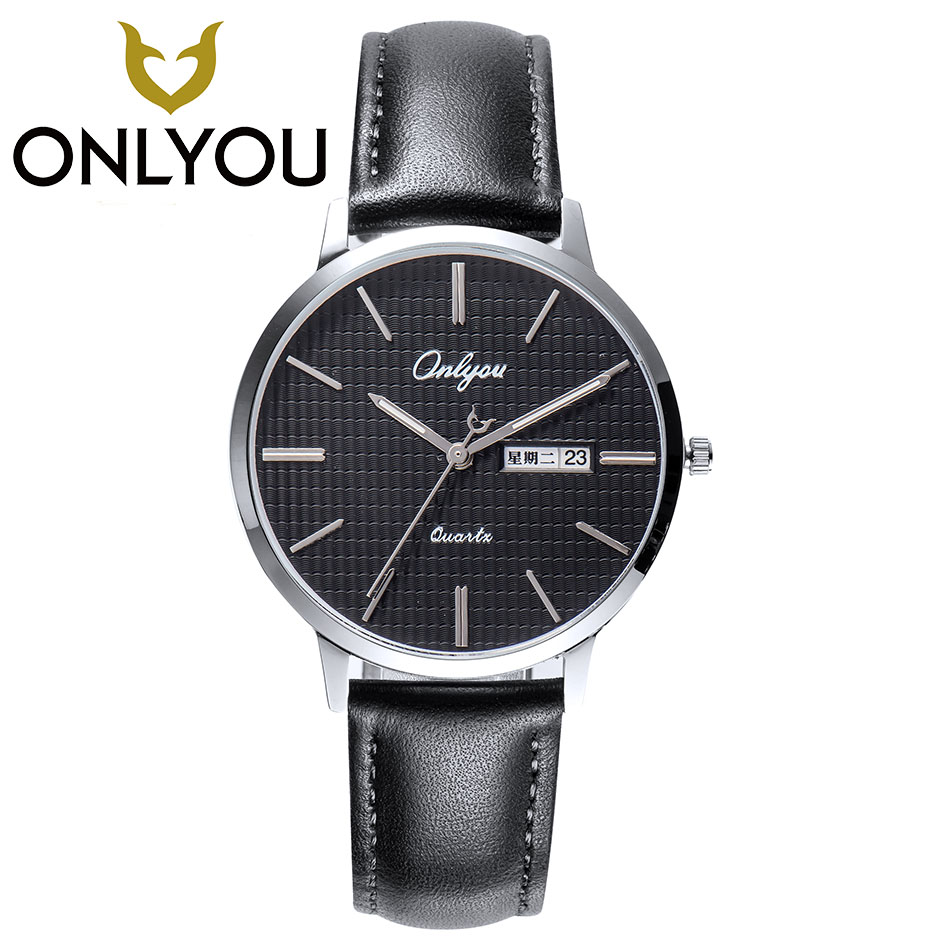 ONLYOU2017 Women Men Watches Top Brand Luxury Quartz Watch Casual Leather band Mens Wrist Watch 30M Waterproof Date Woman Clock adjustable wrist and forearm splint external fixed support wrist brace fixing orthosisfit for men and women