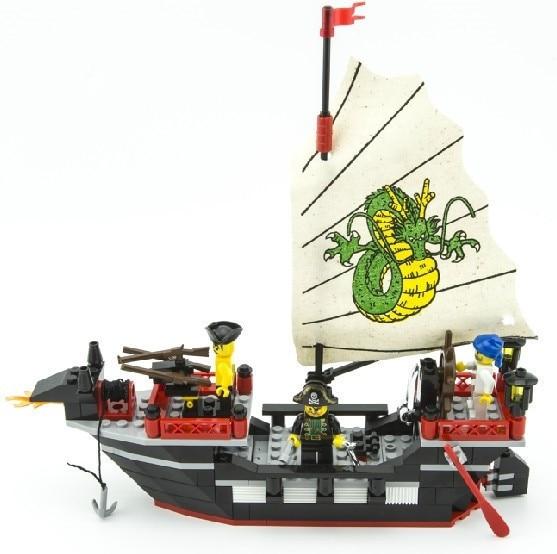 Enlighten 301 New 211pcs Pirate Series Pirate Ship Dragon Boat Model - Կառուցողական խաղեր - Լուսանկար 2