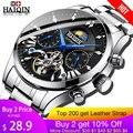 HAIQIN hombres/hombres relojes de marca superior automático de lujo/mecánico/reloj de lujo para hombre reloj deportivo reloj de pulsera para hombre hombre tourbillon