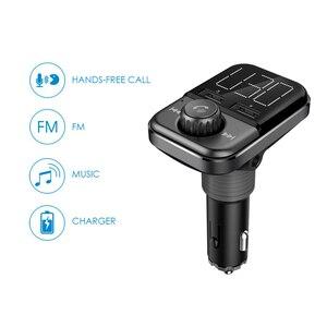 Image 2 - BT72 sạc Nhanh 3.0 Dual USB Cổng Sạc Xe Hơi Bluetooth Không Dây Phát FM Cầm Tay giá rẻ MP3 Nghe Đài Phát Thanh Adapter bộ điều chế
