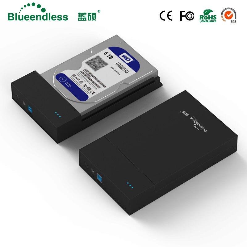 New Chegar 3.5 caso gabinete usb sata 3.0 gabinete rack de hd gabinete caixa de disco duro externo 1 tb sata hdd 3.5