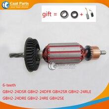 Rotor de armadura de eje de transmisión de 6 dientes, AC220 240V, para Bosch 24 GBH2 24 GBH2 24DSR GBH2SE GBH2 24DFR GBH2 24RLE