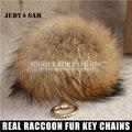 Tamanho grande Bola De Pêlo Colorido Bolsa 2015 Mulheres de Design Da Marca Acessórios do saco Genuine Raccoon Dog Fur Bola Embelezar do Saco Das Mulheres charme