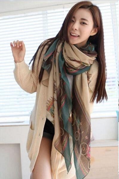 1PC HOT Fashion Beautiful Women Lady Girls Soft Cotton Long Carriage Scarf Large Autumn Winter Warm Wrap Shawl Scarves