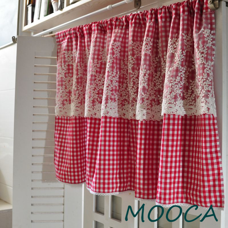 Gingham Curtains Red And White Gingham Curtains Kitchen: Aliexpress.com : Buy Red White Gingham Checkered Plaid