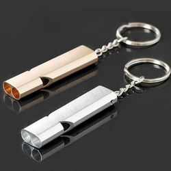 Hot Sell 1Pcs Whistle Keychain Outdoor Survival Whistle Double Pipe High Decibel Outdoor Emergency Whistle Keychains
