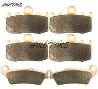 Motorcycle Parts Copper Based Sintered Motor Front & Rear Brake Pads For Bmw R850RT 2006 R1150GS R1150RT 2001 2006