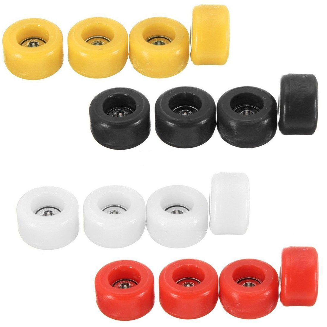 ABWE Best Sale 4 Pcs/Set Professional PU+Metal CNC Bearing Wheels For Wooden Fingerboard