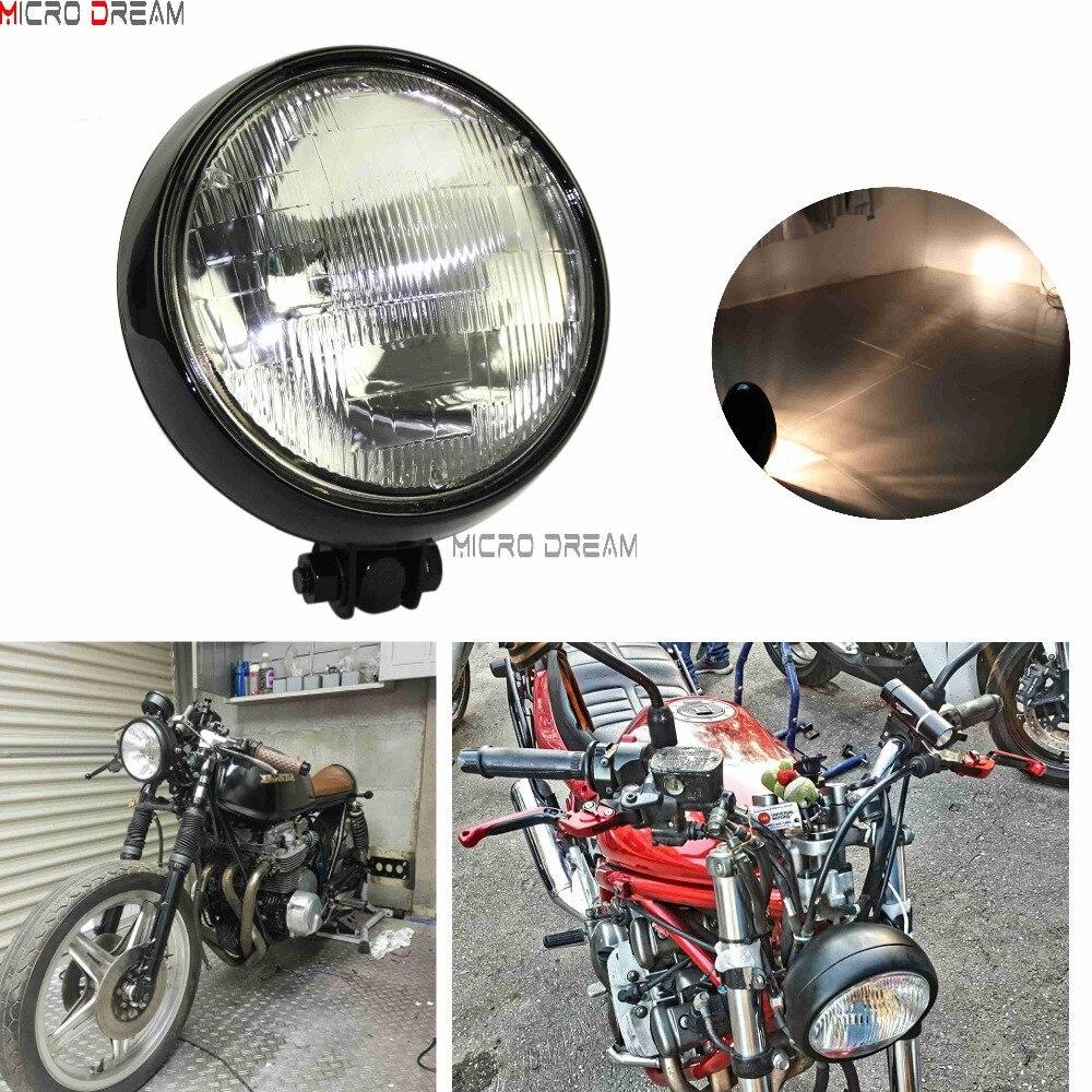 "DOT CUSTOM BILLET HEADLIGHT HALOGEN LIGHT HARLEY MOTORCYCLE 5-3//4/"" CHROME 5.75"""