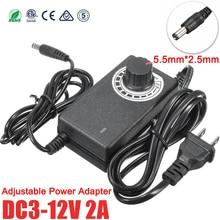 Power Supply Adjustable AC To DC 3V 9V 12V 24V 36V 1A 2A Adapter Universal 3 9 12 24 36 V Volt Led Strip Lamp