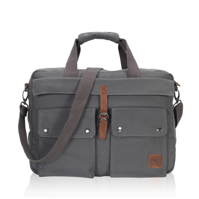 2018 VEEVANV Men Messenger Bags Business Handbag Shoulder Bag Vintage Canvas Travel Briefcase Laptop Crossbody Bag Men's Postman