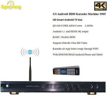 GYMSONG Android HDD KARAOKE Player home KTV Karaoke system