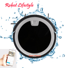 5.6cm wet dry mobile APP remote control wifi function automatic vaccum cleaner robot 2018 wet and dry household cleaning wifi app remote control 330c auto recharge robot vacuum cleaner washing clean free shipping
