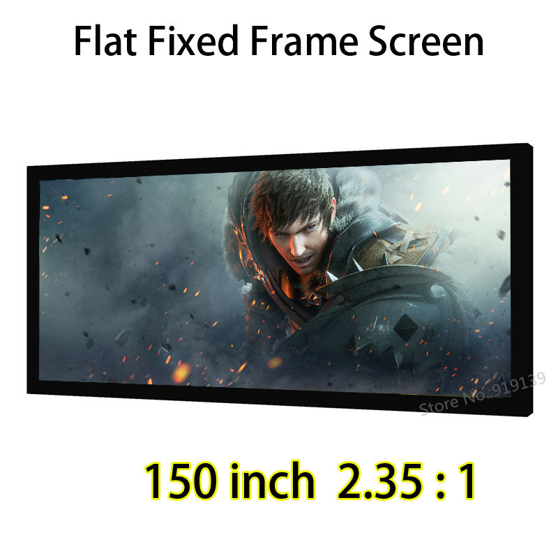 Cinemascope Screen 150 Diagonal 2.35:1 Flat Fixed Frame Projection Screens For 4K Ultra HD Beamer Projector luxury reginald watch men rotatable bezel gmt sapphire date gold stainless steel sport blue dial quartz watch reloj hombre