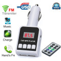 Mecall MP3 Player Wireless FM Transmitter Modulator Car Kit USB SD MMC LCD Remote wholesale Oct21