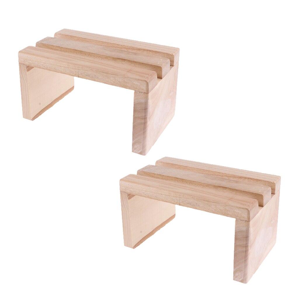 2pcs Wood Foot Step Stool Platform For Feet Spa Bath Barrel Bucket Toilet Seat Under Desk Aliexpress