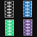 Os Recém-chegados 10 Pcs/1 Folha de Manicure Descartável Nail Art Descascar Fitas Cutícula Guarda Adesivo