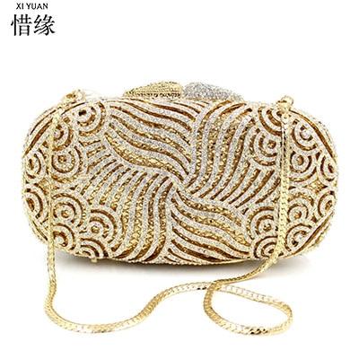 XIYUAN BRAND diamond-studded evening bag full diamond shoulder bags women
