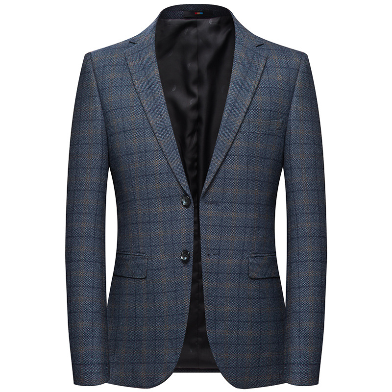 2019 M-XXXXL Autumn Men's Casual Suit New Plaid Blazer Male Korean Version Of The Slim Suit Jacket