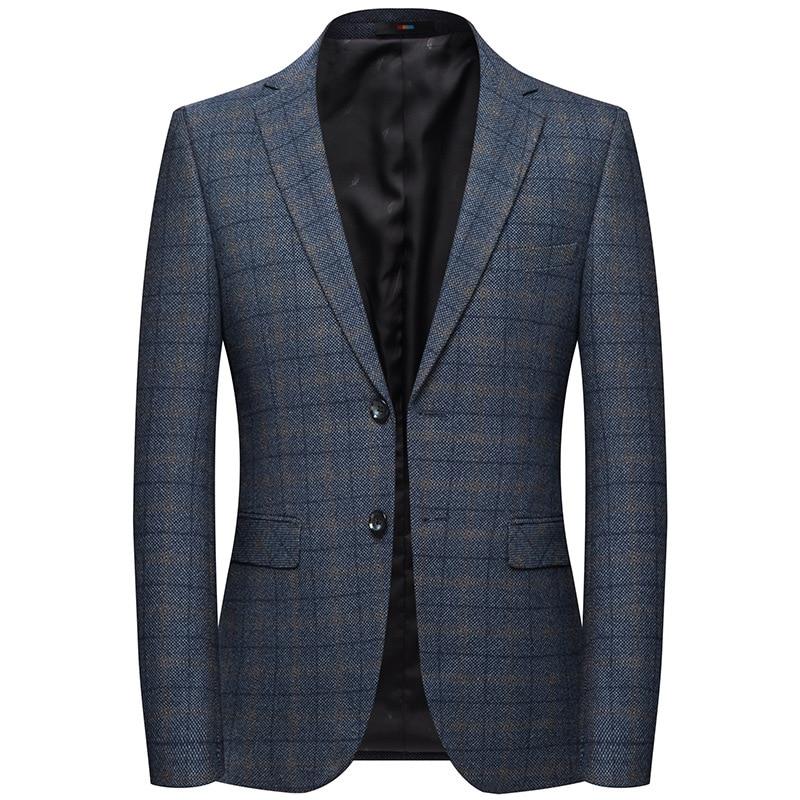 2019 M-XXXXL Autumn Men's Casual Suit New Plaid Blazer Male Korean Version Of The Slim Suit Jacket