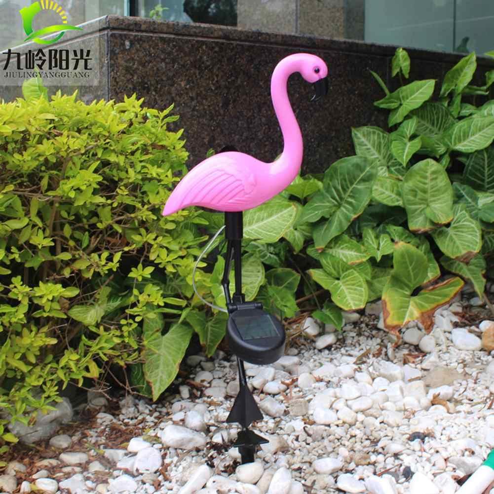 Светодиодный садовый светильник на солнечной батарее, с имитацией фламинго, лампа для газона, водонепроницаемая светодиодная лампа на солнечной батарее для наружного освещения, украшения сада