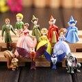 12 pçs/set princesa Sofia Sofia o primeiro presente Brithday PVC boneca figura de ação brinquedos para crianças