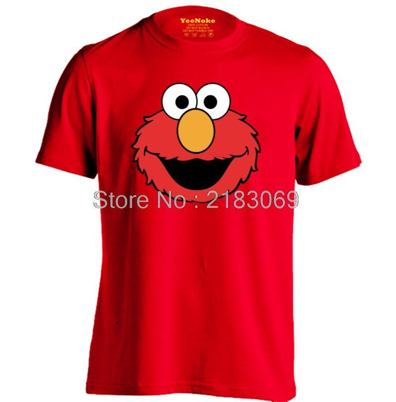 Elmo Muppet ojos grandes hombres y mujeres camiseta de dibujos ...