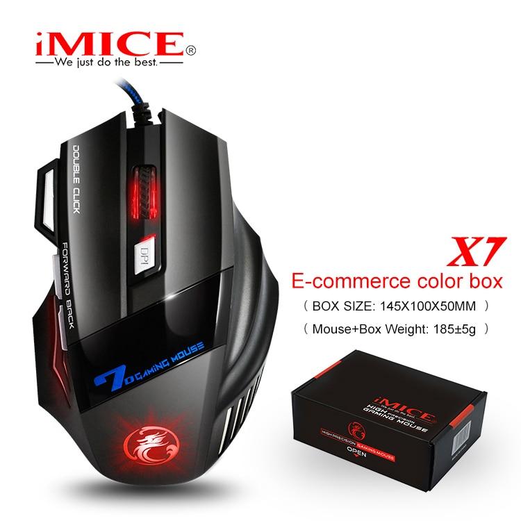imice USB Gaming Mouse 7 gomb 5500DPI LED optikai vezetékes kábel - Számítógép-perifériák - Fénykép 6