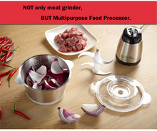High Quality Stainless Steel 2L Bowl HIGH LOW 2 Speeds Electric Meat Grinder Mincer Food Processor