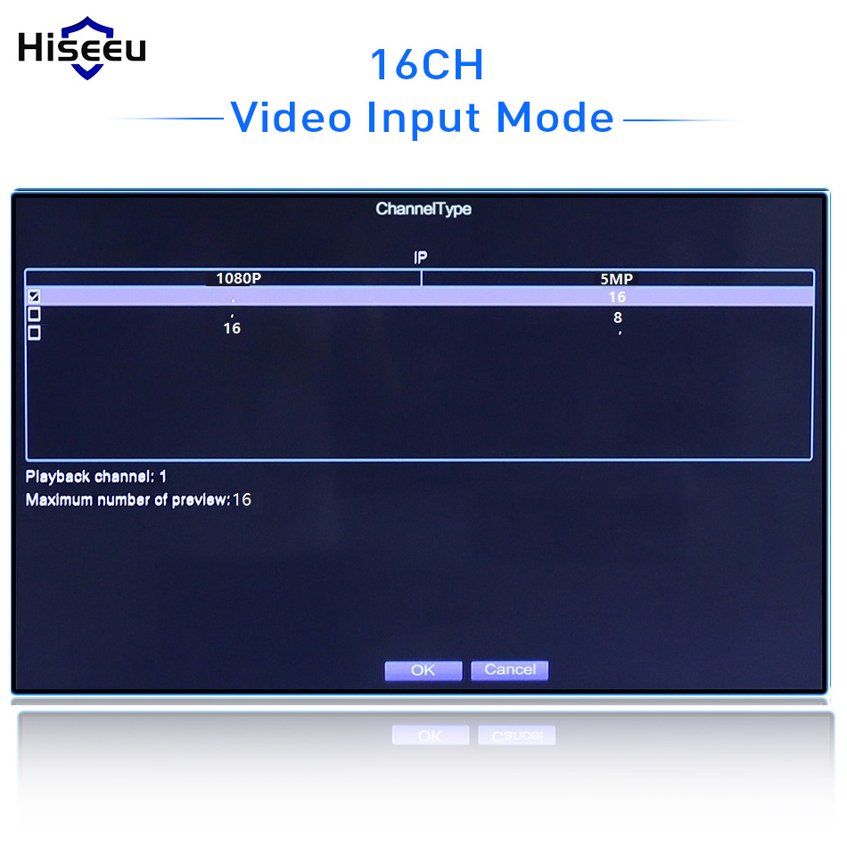 Image 3 - Hiseeu H.265 Video Surveillance NVR Recorder 8CH 16CH 5MP 4MP 2MP Output Motion Detect ONVIF Recorder for IP Camera Metal Case-in Surveillance Video Recorder from Security & Protection