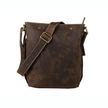 цены Men's Handbag Vintage Genuine Leather Crazy Horse Handbags Briefcase Shoulder Crossbody Messenger iPad Bag for Man