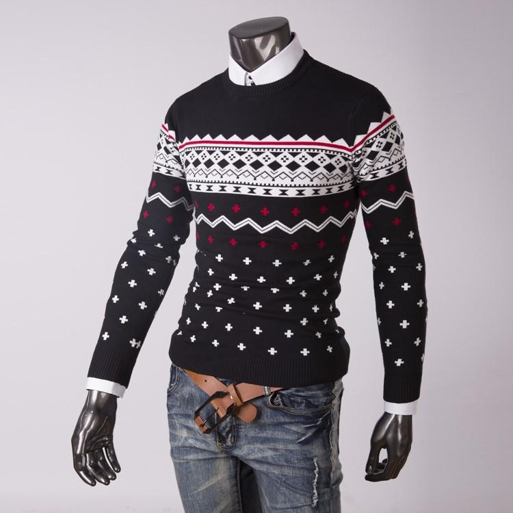 Suéter suéter de cuello redondo nuevo 2015 hombres de invierno ...