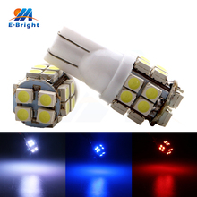 50 Pieces  T10 194 168 501 Pure White Red Blue 1210 20SMD 20 LED W5W Car Side Wide Wedge Tail Light 20SMD Bulb Lamp NEW big promotion t10 w5w 501 194 168 led q5 led 2 5w pure white car auto wedge side lights tail parking lamp bulb dc12v