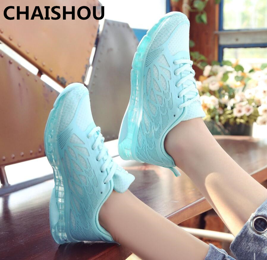 CHAISHUO 2019 New Shoes Women Spring Breathable Wesh Lace-up Women's Flat Casual Shoes Feminino Sapato Chaussures B-225