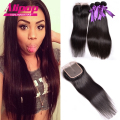Peruvian Virgin Hair With Closure 4pcs,Peruvian Straight Virgin Hair With Closure,Human Hair With Closure Free,Middle,Three Part
