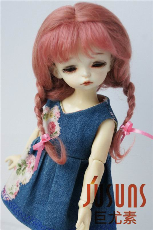 JD2031 1/6 mohair BJD pelucas de muñeca 6-7 pulgadas YOSD Long Lovly - Muñecas y peluches - foto 5