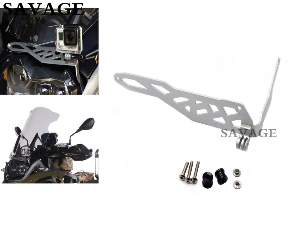Motorcycle Cam Rack Camera Mount Bracket Guard For BMW R 1200 GS LC 2013-2016 R 1200 GS LC ADV 2014-2016 Sliver