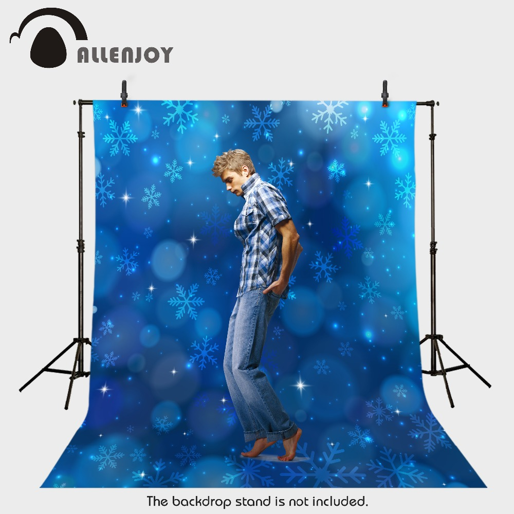 Allenjoy photography backdrops snow blue snowflakes winter kids photocall merry baby shower photo props christmas backgrounds