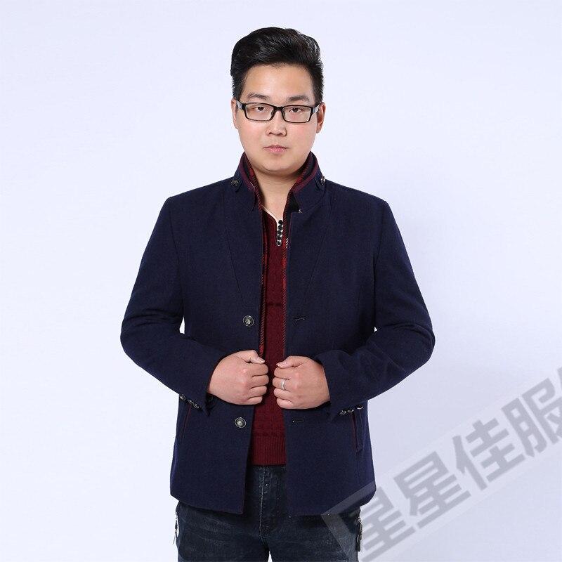 Abrigo de invierno de talla grande 10XL 8XL 6XL para hombre, ropa de marca a la moda, abrigo grueso y cálido de lana para hombre - 5