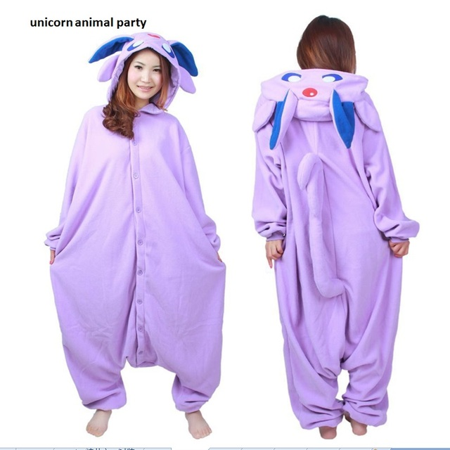 Halloween Kigurumi Anime Purple Espeon Onesie Cosplay Costume Unisex Cartoon Umbreon Pajamas Party For Adult Men Women