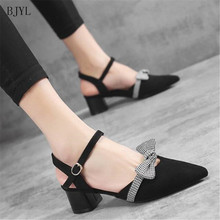 BJYL New Hot Women Platform Pumps Ladies Sexy Thick heel Pointed Toe High Heels Shoes Fashion Buckle Sandals B50