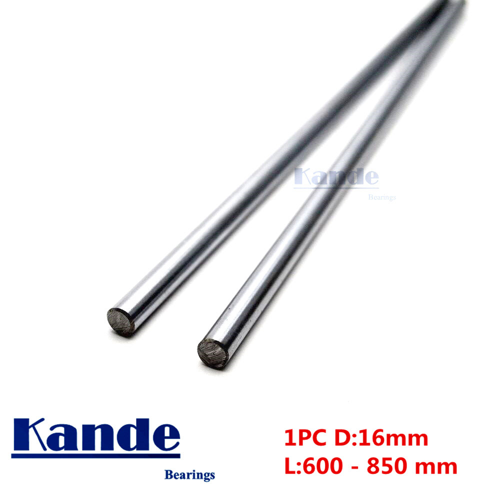 Kande Bearings 1pc d: 16mm 600 700 700 800 mm chrome plate 3D printer rod shaft linear shaft chrome plated rod shaft CNC parts kande bearings 1pc d 16mm 3d printer rod shaft 16mm linear shaft 230mm chrome plated rod shaft cnc parts 100 700mm