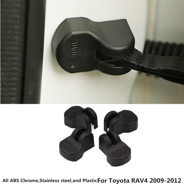 For Toyota RAV4 2009 2010 2011 2012 Car Anti Rust Water Proof Door Plastic Buckle keys key Limit Device Trimming 4Pcs