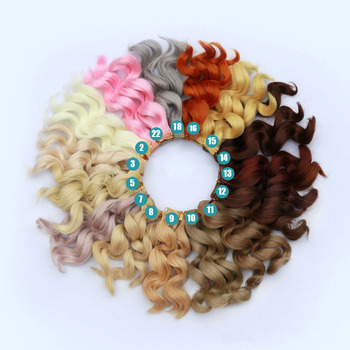 1PCS 28Colors 15CM Curly Doll hair For 1/3 1/4 BJD Doll DIY Hair image