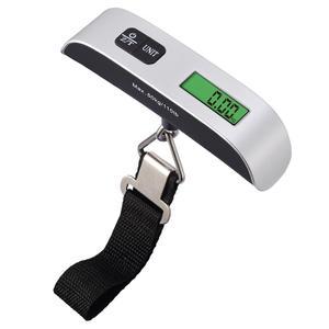 Цифровые весы для багажа AMIR 50 кг/100 г с ЖК-дисплеем, портативные дорожные электронные весы для чемоданов, подвесные весы баланс веса, ручные